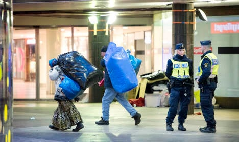 Fifty beggars evicted from Stockholm square