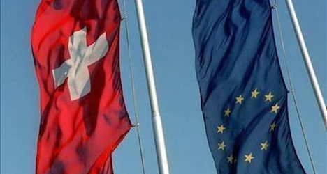 Brussels blunders with wrong Swiss flag