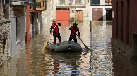Spanish PM to mop up in flood area