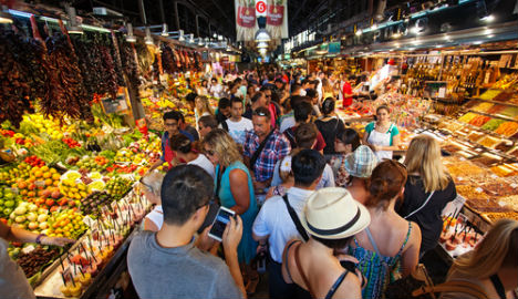 Barcelona bans tourists from famous market