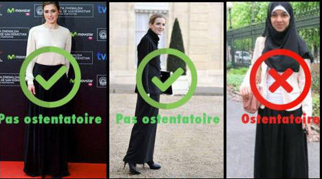 Does a long black skirt really flout French laws?