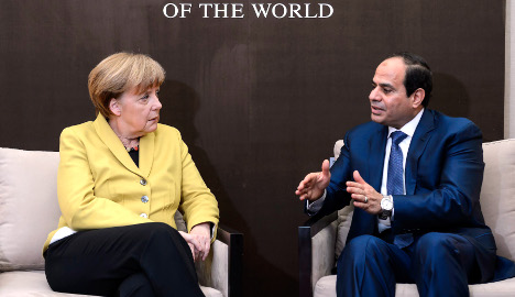 Rights groups critical of Egypt president's visit