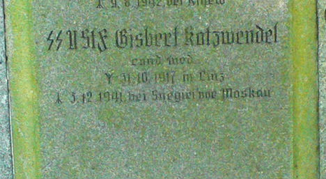 Nazi symbols 'must be removed from graves'