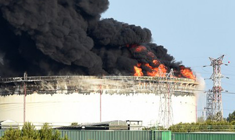 French plant blasts were 'criminal act': minister