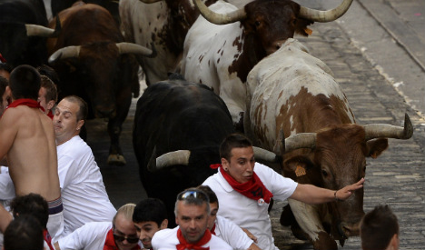 Two Americans and a Brit gored in Pamplona