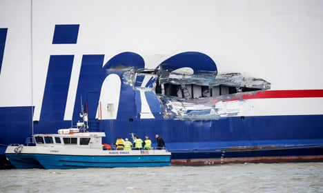 Ferry and tanker collide near Gothenburg