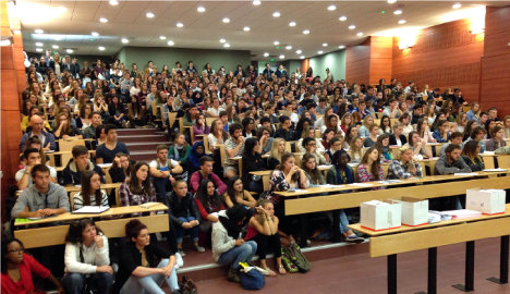 Students reveal French universities set to burst