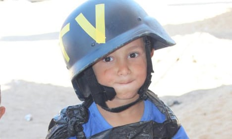 Swede reunited with viral child 'reporter' in Gaza