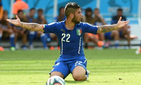 Napoli's Insigne added to Italy squad