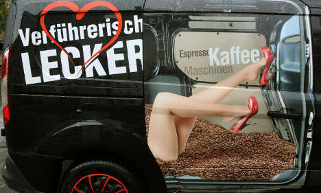 Delivery driver loses cool over sexy van ad