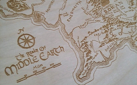 Map shows Italian city inspired Tolkien town
