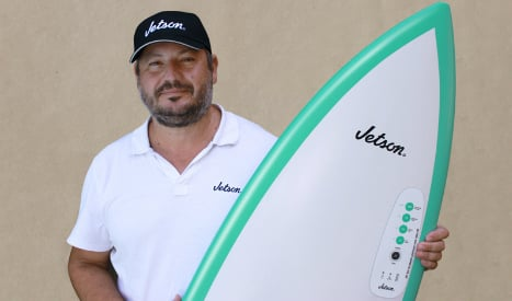 Spanish surf dudes rule the waves with world's first jet-powered board