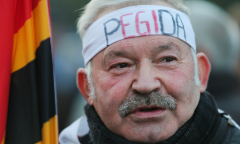 Inside Pegida's bellowing and bitter Dresden rally