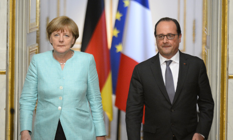 Hollande and Merkel to show unity to MEPs