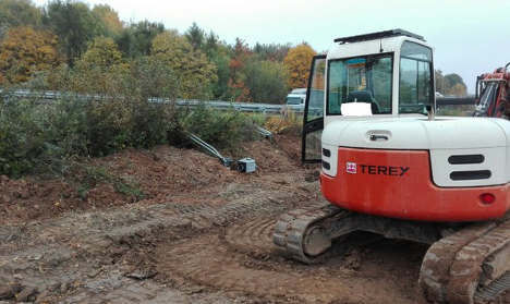 Vandals steal digger for speed camera vengeance