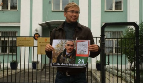 Russian blogger protests Norway press control