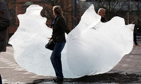 Greenland's icy homage to UN climate talks
