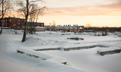 Stunning memory park for moved Swedish town