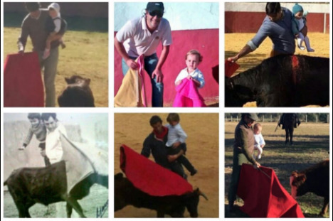 Now bullfighter faces 'child abuse' probe over baby photo