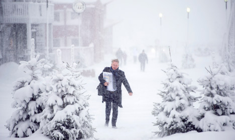 Swedes struggle to stay on feet in icy weather