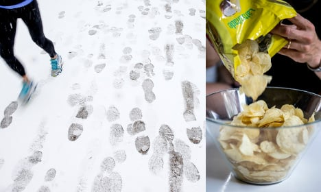Swedish chips thieves tracked in snowfall