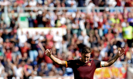 Wife hints at Totti retirement