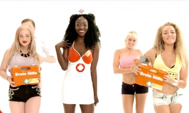 VIDEO: Are these German 'First Aid Ladies' too sexy?