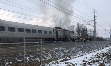 Train catches fire on way from Stockholm to Gothenburg