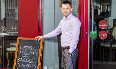 Furious French restaurant owner bans bankers
