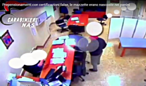 Italy doctor fudged invalidity claims with 'sandwich' bribes