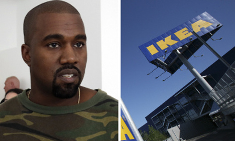 What was Kanye West doing visiting Ikea's HQ in Sweden?