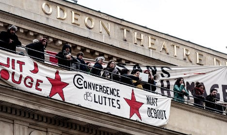 Protesting French artists occupy top Paris theatre
