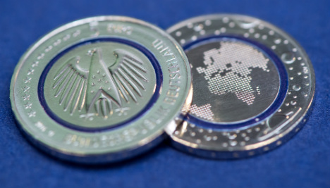 New 'see-through' five-Euro coin unveiled in Munich