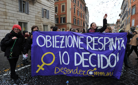 Getting an abortion 'too hard' even though it's legal in Italy