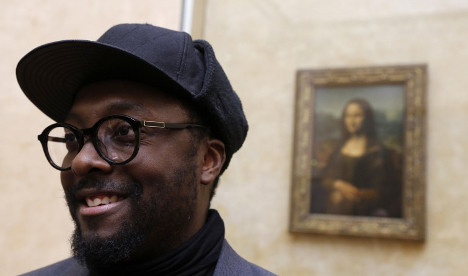 Rap star Will.i.am spends 'awesome' night at the Louvre