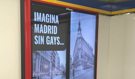 'Imagine Madrid without gays' metro advert sparks row