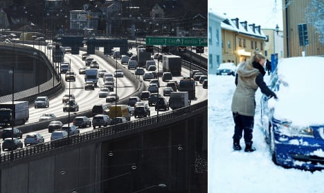 How spring snow caught the Swedes by surprise