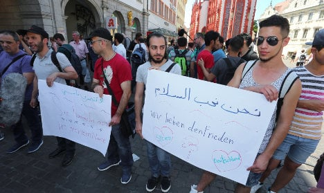 'Not in my name': Refugees demonstrate in Würzburg
