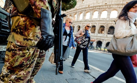 Rome boosts security amid heightened terror threat
