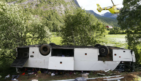 Tourist killed in Norway after bus careers off road
