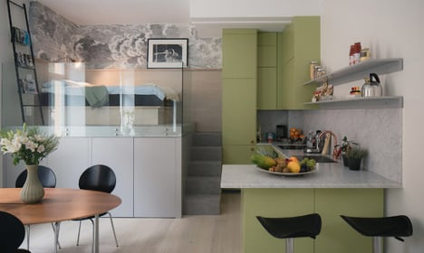 In pictures: Stockholm office turned into mini apartment