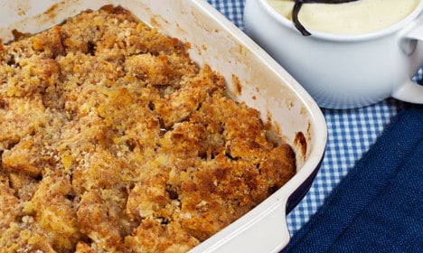 How to make southern Swedish apple crumble