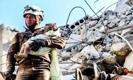 Syria's White Helmets answer tough questions in Stockholm