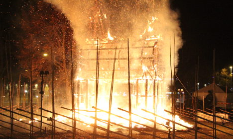 Sweden's Christmas goat burned down on opening day
