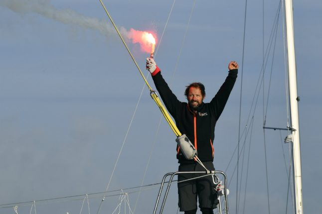Frenchman pulverises yachting solo round the world record