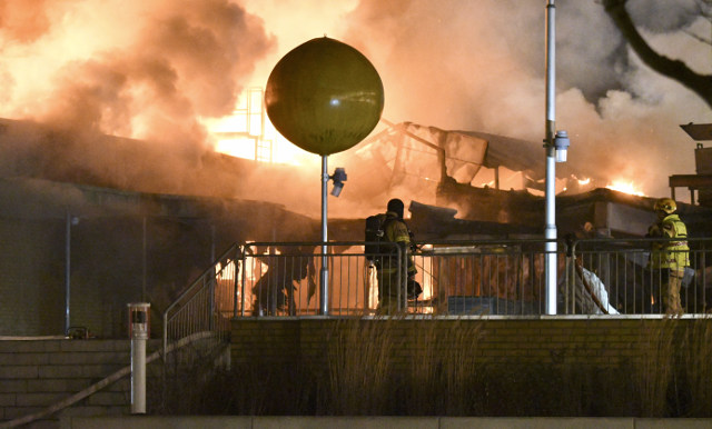 Shopping centre burns down in Swedish fire