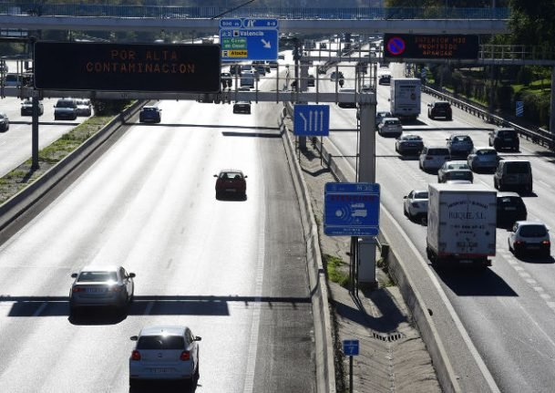 Madrid activates temporary car ban as pollution levels grow