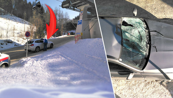 Skier falls from chairlift at Austrian resort onto a car below