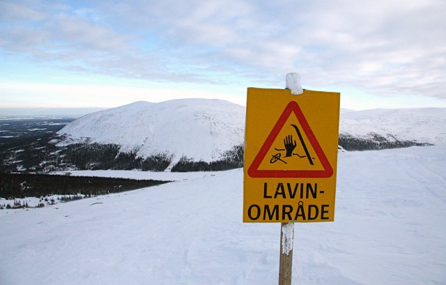 Avalanche warning for northern Sweden