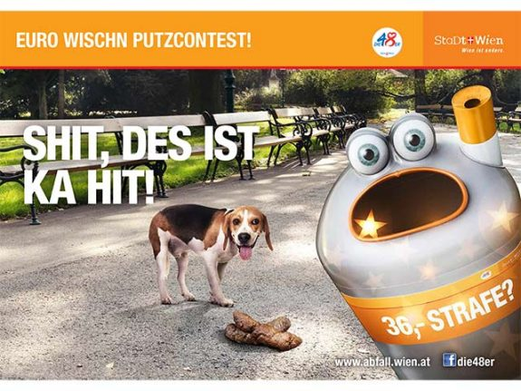 Vienna fines increase for dog fouling and fag butt litter